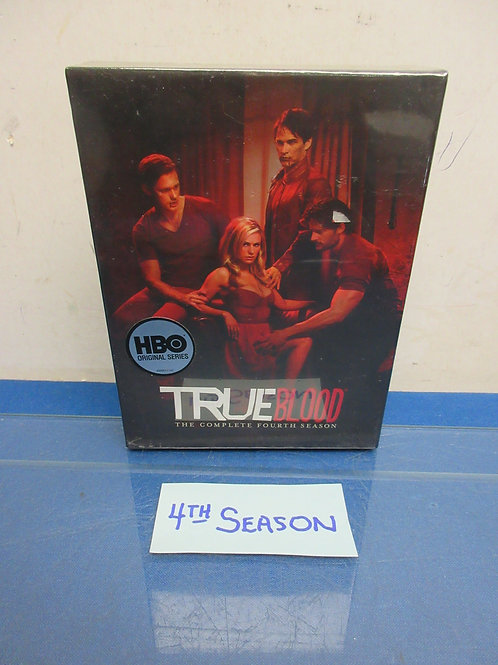 True Blood-5DVD set, complete fourth season, New, sealed