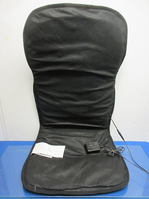 Black cloth electric seat cushion w/heat & vibrate/massage features