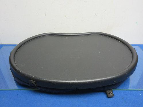 Black plastic lap tray with soft bottom