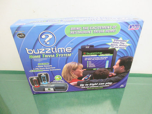 Buzztime Home Trivia System, hooks to our TV, w/3 controllers, as is, Not tested