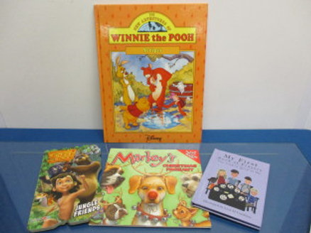 "set of 4 children's books - ""Winnie the Pooh"", ""Marley"" and others"