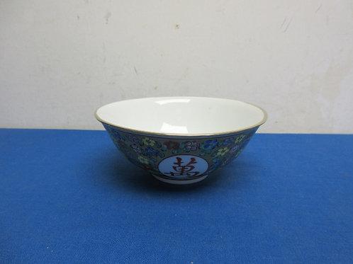 Asian foral design rice bowl