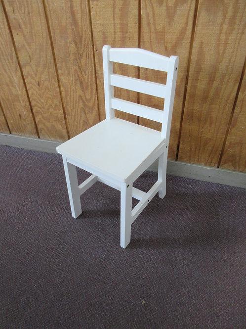 White children's chair