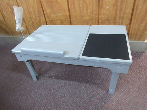 """Gray large bed tray w/light,usb connector, & storage, 13x22"""""""