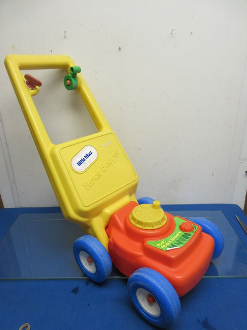 Little Tikes red, blue and yellow push mower