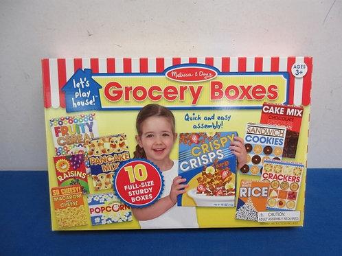 Melissa & Doug grocery box set, easy to assemble
