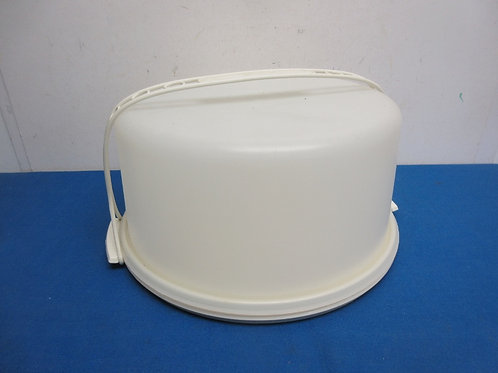 Large tupperware round cake carrier with dome and handle