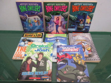 Childrens chapter books, set of 8 assorted titles, Betsy Haynes Chillers, Jimmy