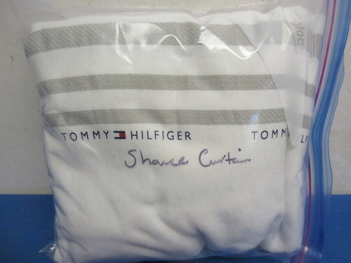 Tommy Hilifiger white cloth shower curtain
