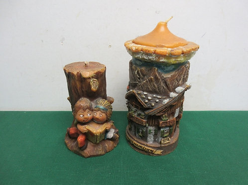 Pair of decorative candles from Germany