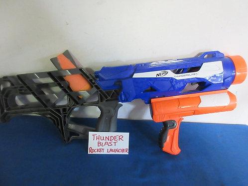 Nerf thunderblast blue and orange rocket launcher - includes 2 rockets
