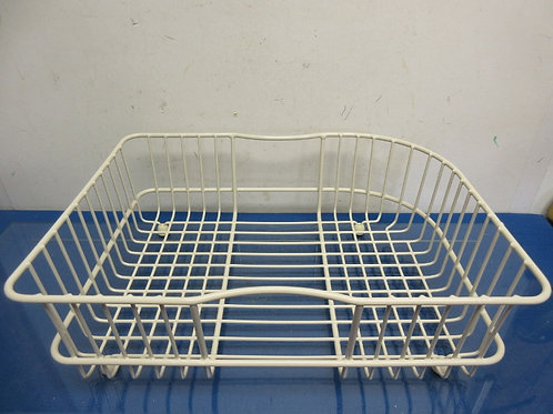 White rubber covered footed drying rack