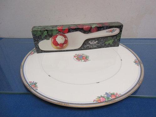Christopher Stuart bone china serving platter and cake server