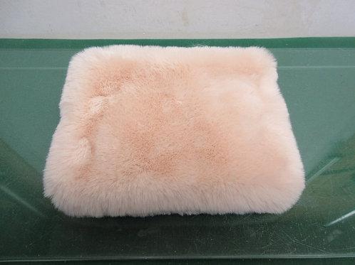 Aerie faux fur cosmetic bag