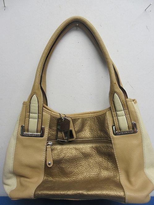 Tignanello gold & beige purse