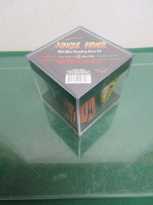 Jungle Fever shot glass drinking game in plastic cube box