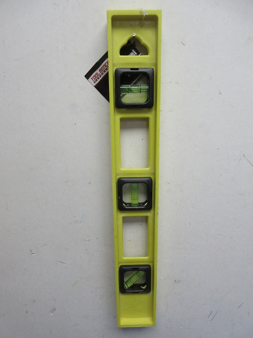 Tool Bench yellow plastic level with ruler on the side