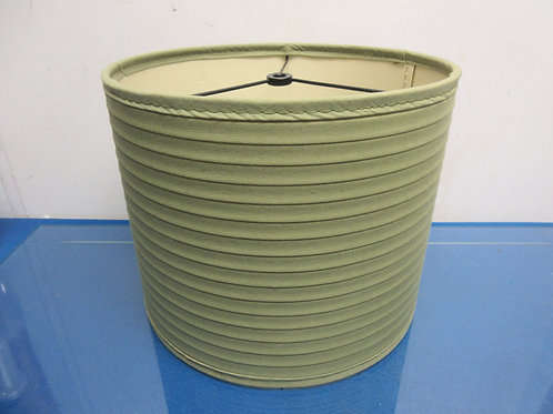 """Green drum style lamp shade 11""""dia x 9""""high"""