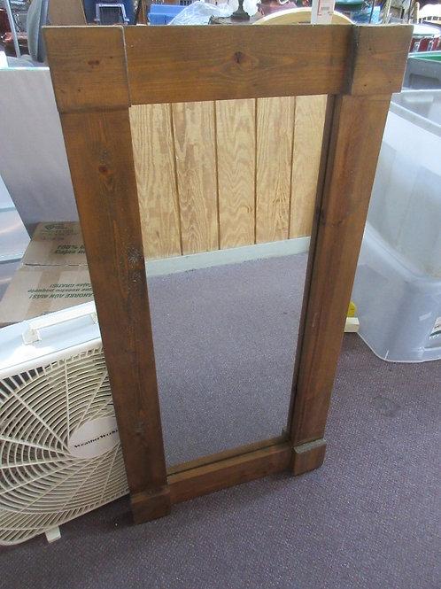 """Rustic wood framed mirror - 20"""" x 41"""""""