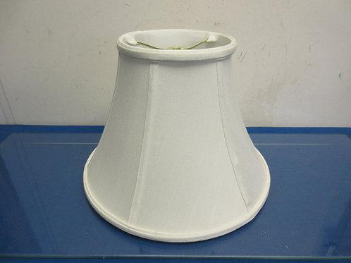 "Small white lamp shade, 9"" high"