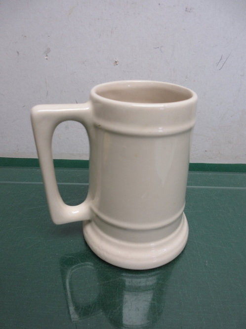 Ivory color large beer mug with handle