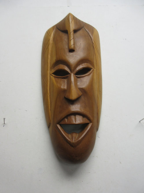 Hand carved African wooden decorative tribal mask made in Kenya