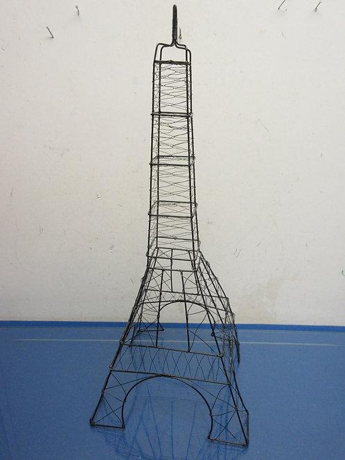 "Black metal Eiffel Tower, 8x8x22""high"