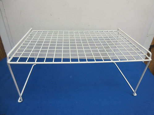 White vinyl coated shelf - 12x18x8