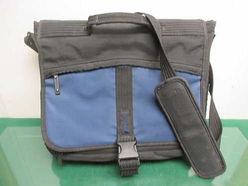 Targus black and blue computer bag with multiple compartments