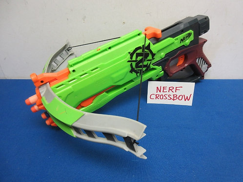 Nerf green cross bow - includes a few darts