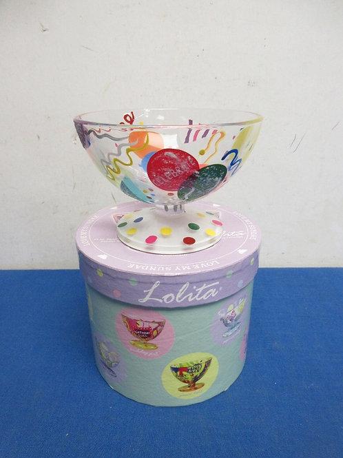 Lolita 12 oz hand painted ice cream sundae bowl