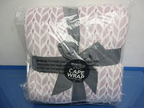 "Berkshire Blanket & Home Cozy Cape Wrap, 58x64"" purple"