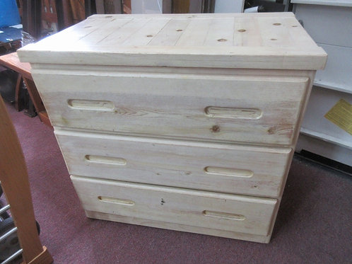 """Unfinished pine 3 drawer chest of drawers, 20x33x31""""high"""