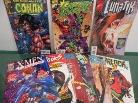 Set of 10 newer Marvel Comics, Lunatik, Conan, X-Force, Blade, Captain Marvel...