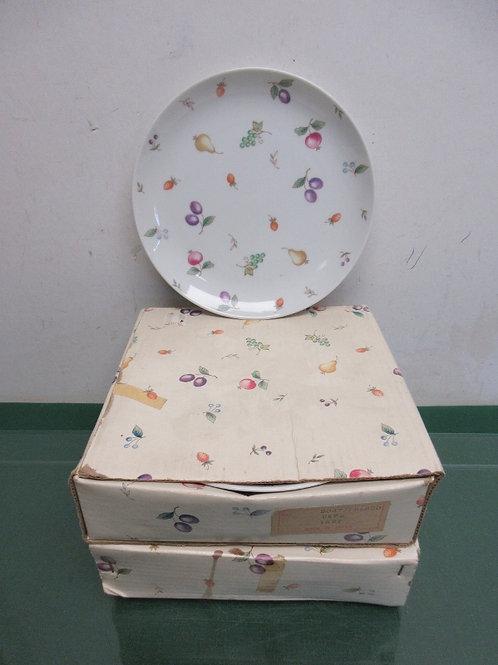 Fresco set of 8 fruit design sandwich plates