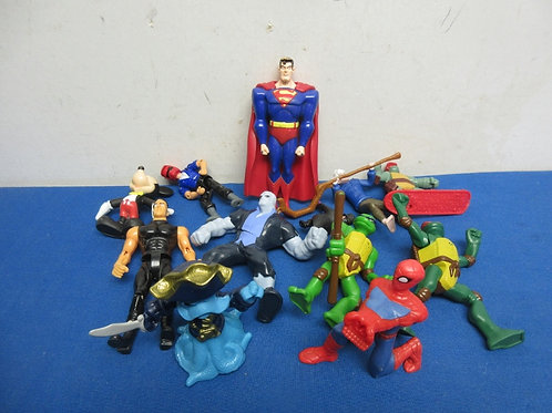 Small bag of assorted poseable action figures
