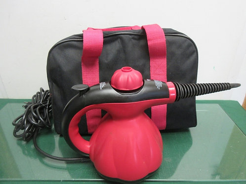 Scunci steam cleaner with attachments and carry bag - red - tested works