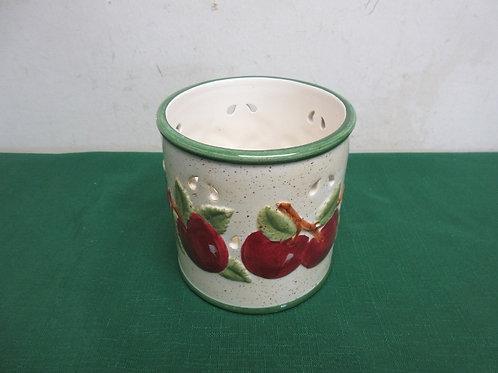 Ceramic apple design candle holder