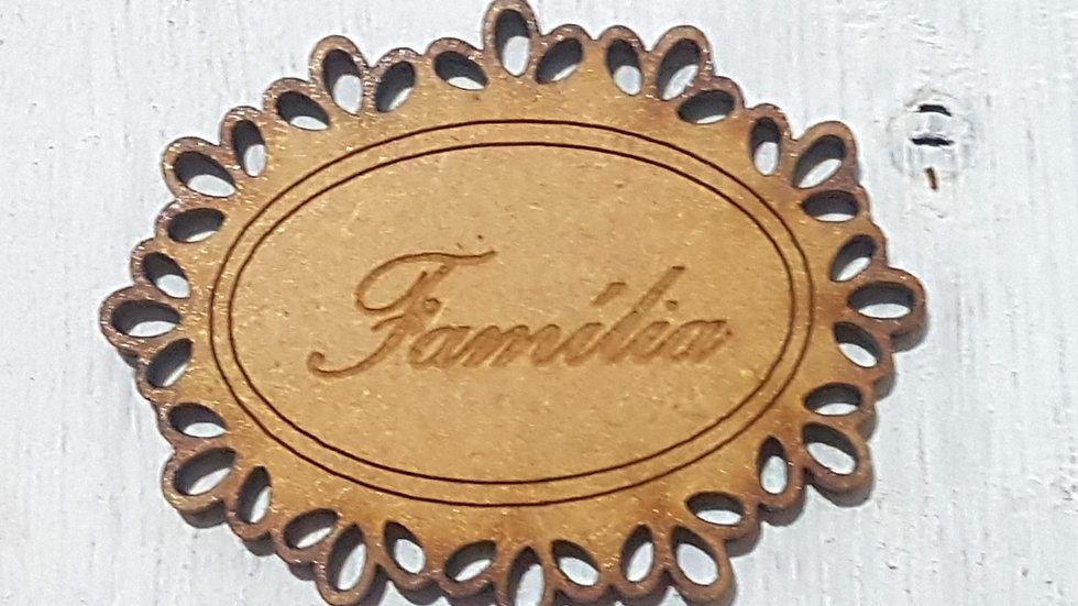 PLAQUINHA FAMILIA 2unid