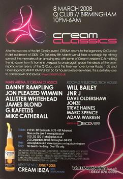 Cream Classics line up