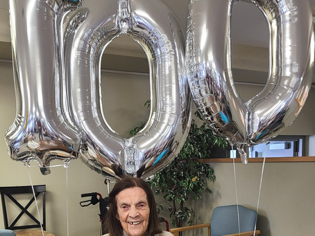 Two Vermilion Lodge Residents Celebrate 100th Birthday