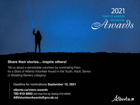 Nominations Now Open For Provincial Volunteer Awards