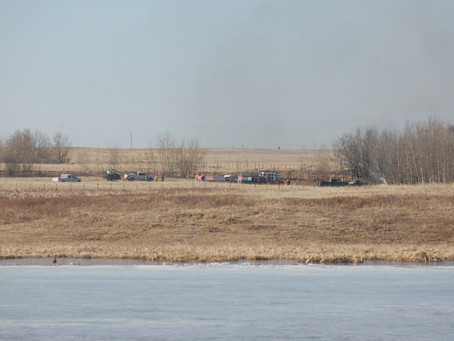 Vehicle And Grass Fire