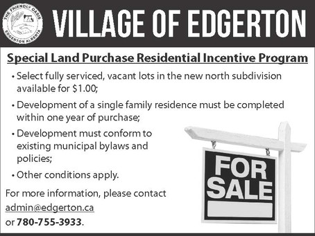 Special Land Purchase Residential Incentive Program