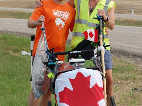 Running Across Canada – 'Million Bottle Pledge'