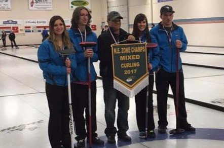 Mannville Sr. Royals Mixed Curling Team Are On To Provincials