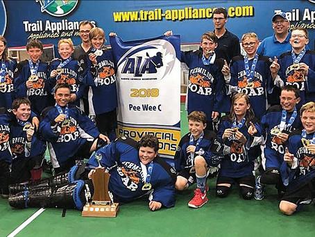 Vermilion Peewee Lacrosse - C Division Provincial Champions!