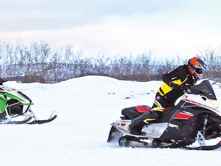 1st Annual Snowmobile Drag Races In Vermilion