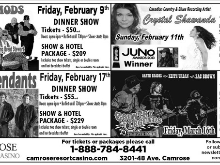 Awesome Entertainment Coming To Camrose