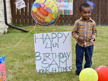 Happy 4th Birthday, Sam Kinoti!